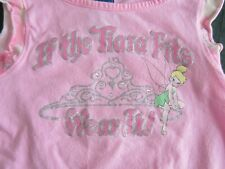 2 pc. Girl's Outfit Disney Jerry Leigh Tinkerbell Pink Top XS 4/6 Pants S 6/6X