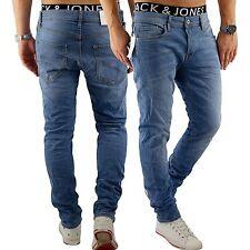 JACK & JONES Herren Jeans jjiTIM 078 Used Look Blue Denim Elasthan Slim Fit 2568