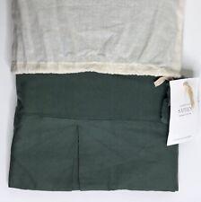 Restoration Hardware Garment-Dyed Sateen Bed Skirt Full Dark Eucalyptus NEW $235