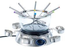ELETTRICO Set per fonduta con ciotola di vetro, 1.300 Watt