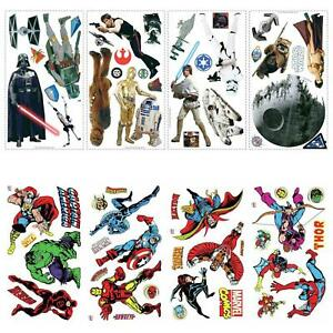 Character Wall Stickers Kit Room Decor Kids Official - Marvel Comics, Star Wars