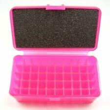 Fs Reloading Plastic Flip top Ammo Box Translucent Pink Mp-50-Pink