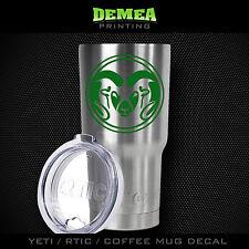 Csu Colorado Rams -Yeti/Rtic/Yeti Rambler/Tumbler/Coffee Mug-Decal -Green