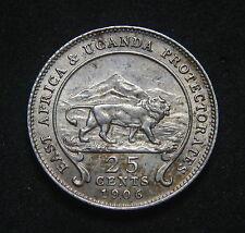 East Africa & Uganda 25 Cents 1906 GEF