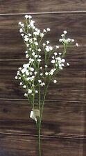 6 Tiges Blanc Gypsophillia 'Bébés Souffle' Fleurs Artificielles En Soie