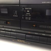 Magnavox MCB400 Dual Auto Reverse Cassette Deck AS IS Not Working Parts Repair
