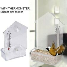 Home Natures Market Window Bird Feeder with Suction cups & Thermometer