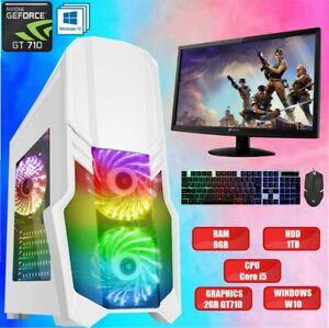 Super FAST Intel Core i5 Gaming PC Full SET 8GB RAM 1TB HDD WIN10 2 GB GT710 ✅
