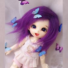 [PF] Purple Long Wool Wig For Ae Pukifee Lati 1/8 BJD Dollfie 14cm