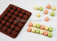 LOWER CASE Alphabet BRICKS NAMES LETTER WORD Chocolate Candy Silicone Mould Mold