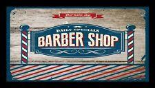 Barber Shop Bar Runner Counter Mat Barbers Salon Hairdressing Rustic 1037