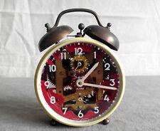 Vintage SHEFFIELD Twin Bell Wind Up Alarm Clock See-Through Germany Repair