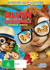 Alvin and the Chipmunks Trilogy 1-3 DVD NEW R4 *3 Movie Collection* 123
