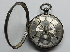 Reloj de bolsillo grande Antiguo Plata 1866 cara fusee P.J. timeny Glasgow