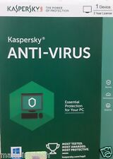 Kaspersky Anti Virus 2016 Antivirus Software 1 User 3 Year +  VAT Bill Seal Pack