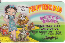 BETTY BOOP card Drivers License Wizard of Oz Follow the Yellow Brick Road toto