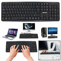 USB Wired Keyboard QWERTY UK Layout For PC Laptop Computer Desktop Win XP 7 8 10