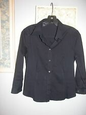 Prada Navy blue stretch blouse womens size 42 worn once