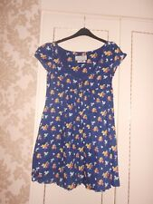 Gorgeous Blue & Floral Designer Dress from Jack Wills Size 8 Excellent Condition