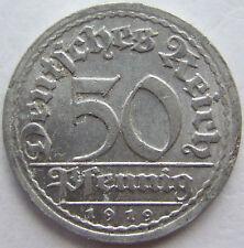 TOP! 50 REICHSPFENNIG 1919 J in VORZÜGLICH SELTEN !!!