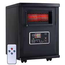 Goplus 1800 Sq. Ft Electric Portable Infrared Quartz Space Heater Remote Black