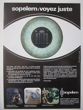 9/1980 PUB SOPELEM ARMEMENT JUMELLES NIGHT VISION PERISCOPE EPISCOPE FRENCH AD