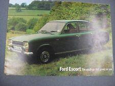 FORD ESCORT Sales Brochure 1972
