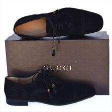 GUCCI New sz UK 11 - US 12 Authentic Designer Oxfords Mens Bamboo Shoes black