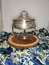 015 Vintage Chafing Silverplate Casserole Fire King dish 1 1/2 qt