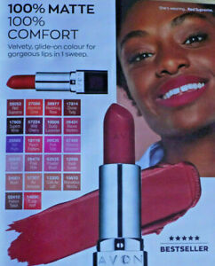 AVON TRUE COLOUR PERFECTLY MATTE LIPSTICK ~ VARIOUS SHADES ~ *NEW & SEALED*