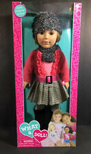"**2013 MADAME ALEXANDER WHAT A DOLL PLAID PLEATED SKIRT 18"" POSABLE CUTE!!"