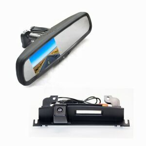 Tailgate Reverse Parking Camera & Rear View Mirror Monitor for NISSAN TIIDA 2008