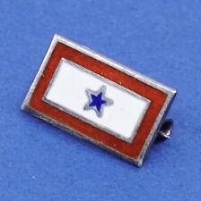 solid 925 silver enamel flag Vintage Sterling silver handmade brooch,
