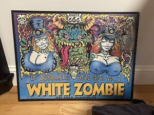 Original White Zombie Promo Poster 1992, White Zombie, Rob Zombie, Pantera