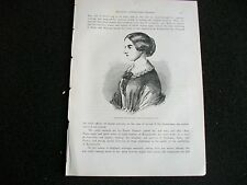 FLORENCE NIGHTINGALE Time of Crimean war1870s old antique print picture ORIGINAL