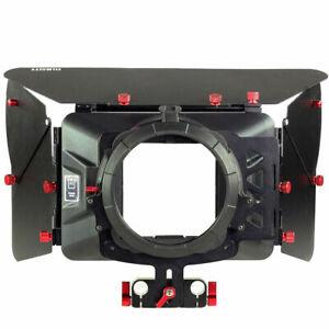Filmcity Matte Box Sunshade fr 15mm Rod Camera DSLR Rig follow focus Filter Tray