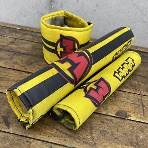 Warpt Old School BMX Pad Set Mid Race Bike Yellow Red Black A1