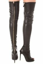 TOM FORD Suede Peep Toe Over the knee Boots SZ 40.5 = Fits US  SZ 10 -10.5 - NIB