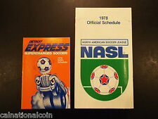 1978 Detroit Express and NASL official schedules