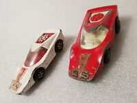 2 x MATCHBOX LESNEY No35 ROLAMATICS FANDANGO 1970's red white 35