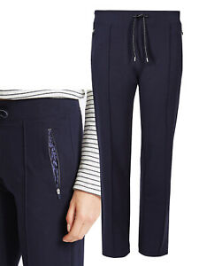 ✅M&S LADIES Zipped Pockets Straight-Leg Jogger Bottoms - 6 8 10 12 14 18 22 24