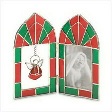 "Angel Stained Glass Frame 7 7/8"" x 3/4"" x 6 3/4"" Glass"