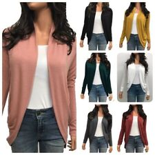 Woman Long Sleeve Cocoon Shaped Open Cardigan Sweater Shawl (S-L)