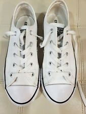 Converse White Leather Sneakers Size 3