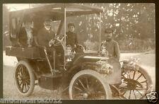 0186 CARTOLINA AUTO D'EPOCA SCONOSCIUTA OLD EARLY WONDERFUL RPPC VINTAGE CAR
