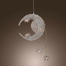 Aluminum Moon & Star Balcony Corridor Ceiling Pendant Lamp Chandelier Light