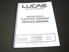 Lucas Service Manual motorcycle electrical equipment Triumph Norton BSA book