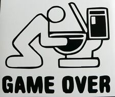 adesivo GAME OVER sticker decal vynil vinile vetro auto moto helmet toilets WC