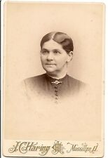 cabinet photo Older American Beauty backmark broach hair fashion Massillon OH