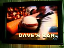 "SPORTS BAR SIGN ""BASEBALL""  personalized with your name LIGHTS UP!!!!"